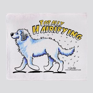 Great Pyrenees Hairifying Throw Blanket